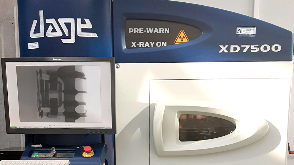 inspección de componentes magnéticos con rayos x